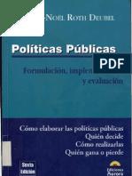 Roth Deubel, Andre_Politicas Publicas