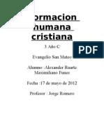 Formacion Humana Cristiana