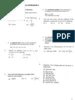 Form 2 Math Ch3 Algebraic