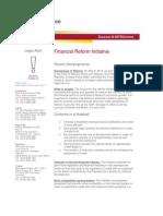Client Alert 22 Financial Reform Initiative