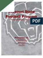 Missouri State Football Marketing Research Project