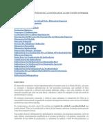 CALIDAD Y PRODUCTIVIDAD EN LA DOCENCIA DE LA EDUCACIÓN SUPERIOR DE CHILE