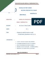 Modelo de Atención Integral en Salud Sexual y Reproductiva. Grupo2