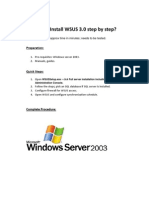 How to Install WSUS 3 on your server