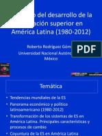 Rodriguez Roberto. Contexto Del Desarrollo de La Educacion Superior Presentacion