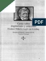 Cartas Sobre El Dogmatismo Seleccion Schelling