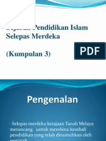 Sejarah Pendidikan Islam Selepas Merdeka