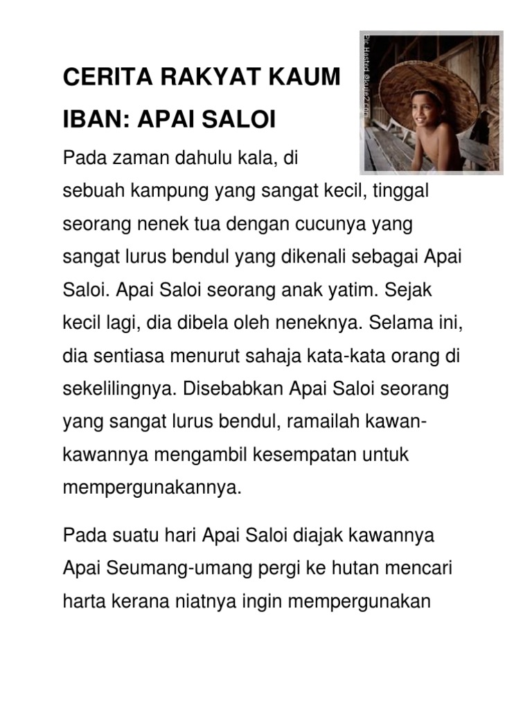 Cerita Rakyat Kaum Melayu Ringkas Brad Erva Doce Info