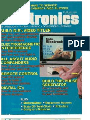RE - 1985-11   Videocassette Recorder   Electronics