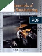 Groover Fundamentals Modern Manufacturing 4th Txtbk