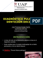 Diagnostico Pulpar en Denticion Decidua