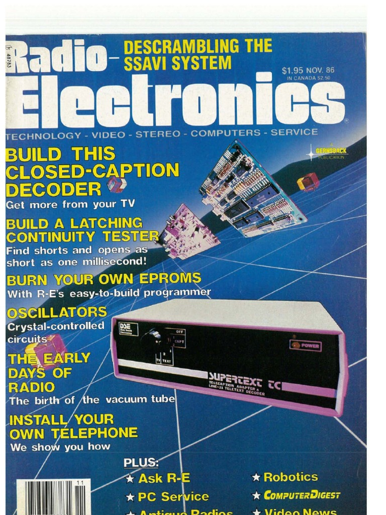 Re 1986 11 Electronics Science Watch Dog For Telephones By Ne555