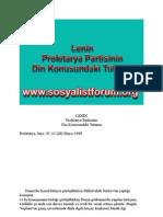 Proletarya Partisi - Din