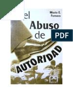 Portada Libro El Abuso de Autoridad