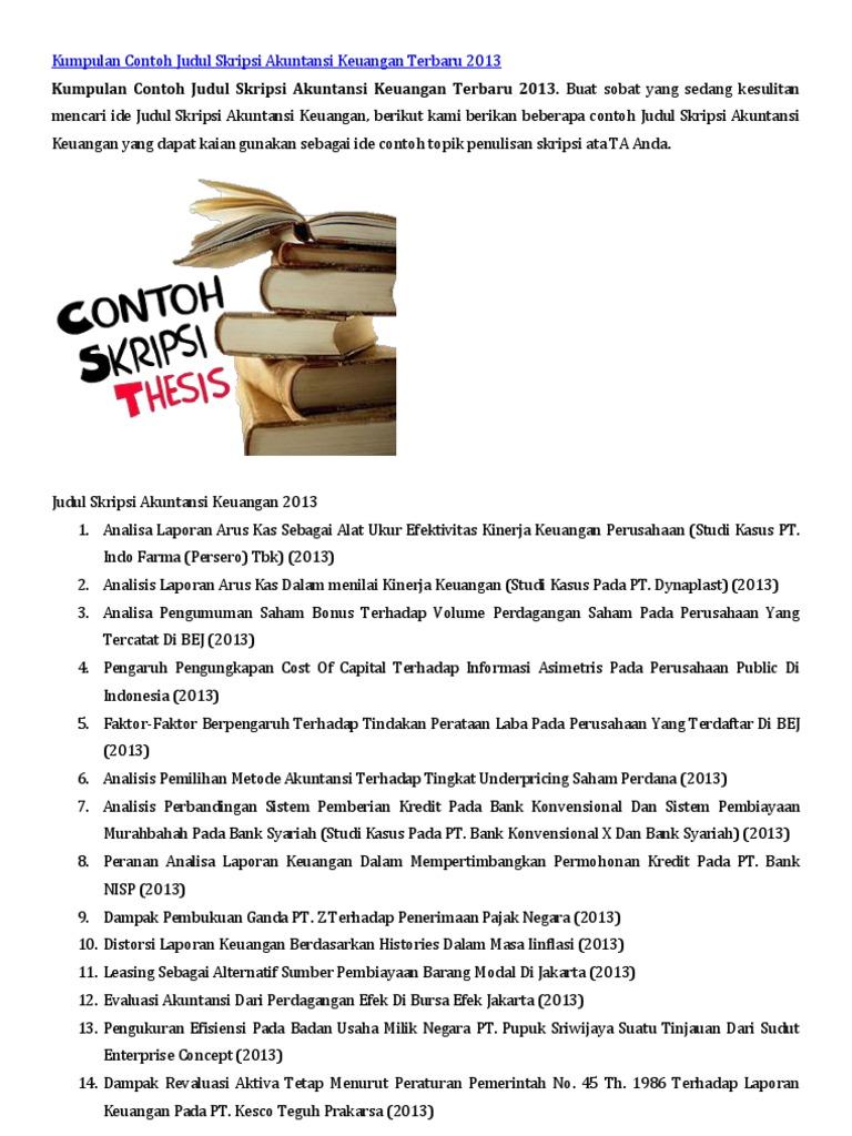 Contoh Skripsi Akuntansi Syariah Contoh Soal Dan Materi Pelajaran 8