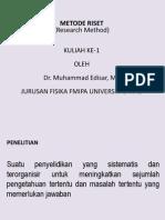 METODE RISET kuliah 1