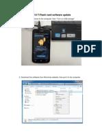 A110 T-Card Software Update