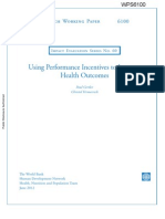 Health performance and incentive