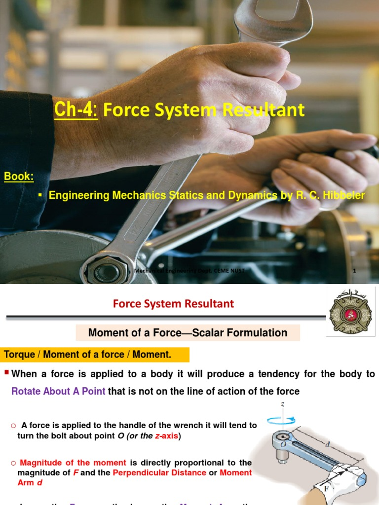 Ch-4: Force System Resultant:  Engineering Mechanics