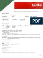 Lion Air eTicket (KTBPRT) - Siregar