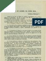 Guillermo Malivassi - Presencia de Husserl en Costa Rica