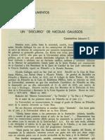 INEDITOS Y DOCUMENTOS UN  DISCURSO DE NICOLAS GALLEGOS (CONSTANTINO LÁSCARIS C)