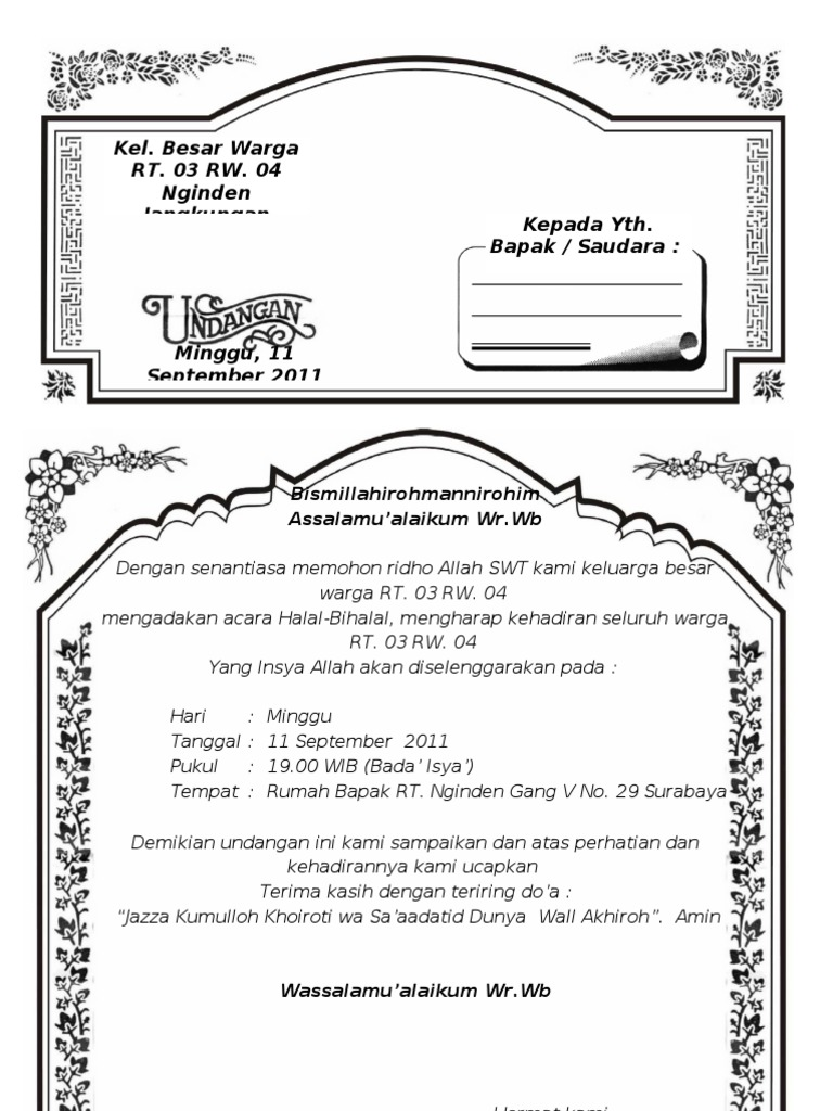 4400 Koleksi Contoh Undangan Aqiqah Format Cdr Terbaru Contoh Undangan