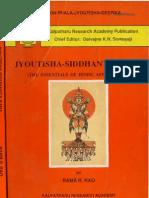 Jyothisha Siddhanta Sara SRK