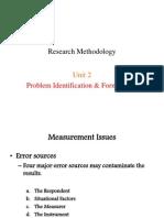 Research Methodology - Problem Identification & Formulation