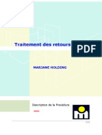 procédure traitement des retours article- réctifiéé au 17-06-05