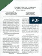 Critical Success Factor of Erp Implementation