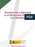 Propuesta renovación de las metodologías educativas