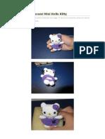 Llavero Amigurumi Mini Hello Kitty