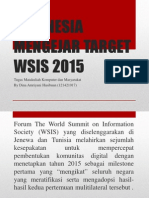Indonesia Mengejar Target WSIS 2015