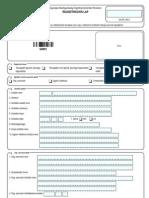 G0001 Ügyfélregisztrációs adatlap