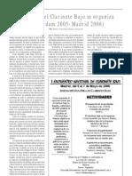 El Mundo Del Clarinete Bajo Se Organiza, Por Pedro Francisco Rubio Olivares