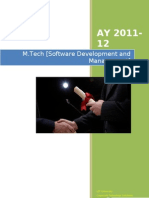 M Tech SDM-Curriculum Syllabi