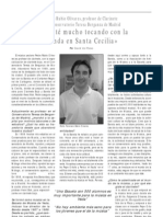 Entrevista a Pedro Rubio Olivares, Profesor de Clarinete