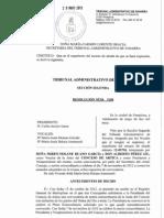 Resolución T.A.N. nº  3188 RA 12-05794