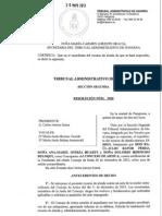 Resolución TAN 3050 RA 13-00519