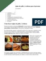 Ingredientes Para Tajine de Pollo y Verduras Para 4 Personas