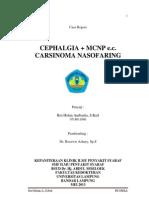 CASE REPORT CEPHALGIA + MCNP e.c. CARSINOMA NASOFARING