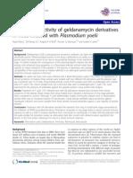 Anti-Malarial Activity of Geldanamycin