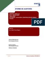 Informe  Auditoria Nueva IESA S.A.  PE-IE-069-12 Act.Construcción De Obras Civiles