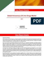 Global Intravenous (IV) Iron Drugs Market Report