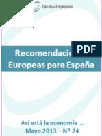 Recomendaciones Europeas para España (Así está la economía... May 13)