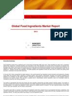 Global Food Ingredients Market Report