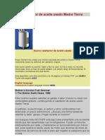 Calefactor de Aceite Usado Madre Tierra