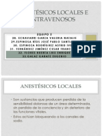 Anestésicos locales e intravenosos_