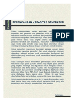 Kapasitas Generator